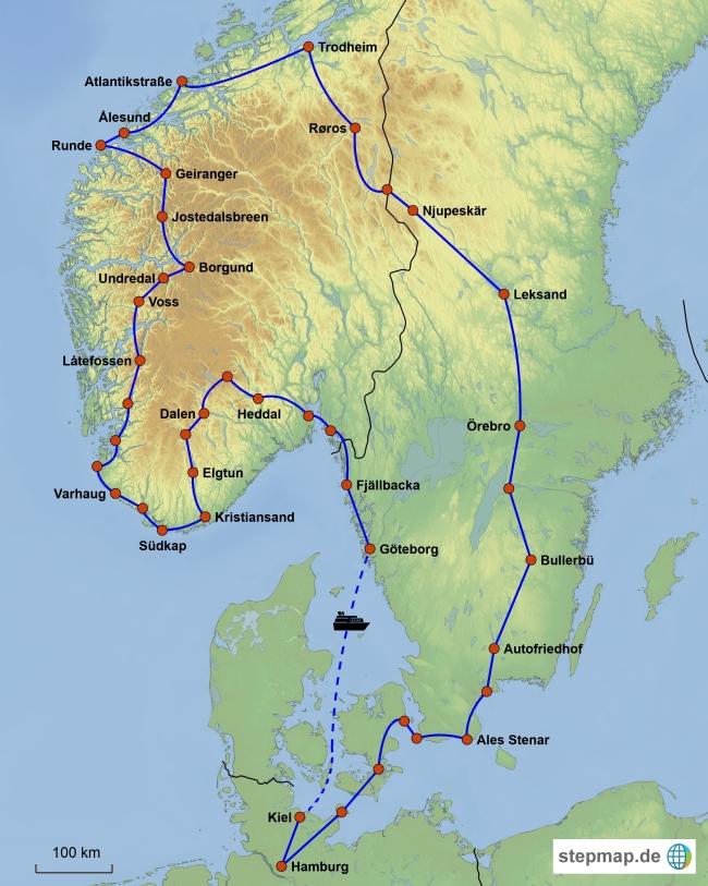 Karte Norwegen Schweden.Norwegen 2017 Reisebericht